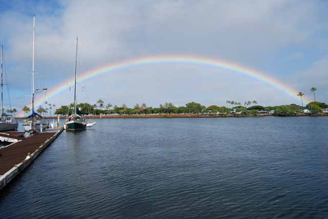 Rainbow seen from the Hawaii Yacht Club
